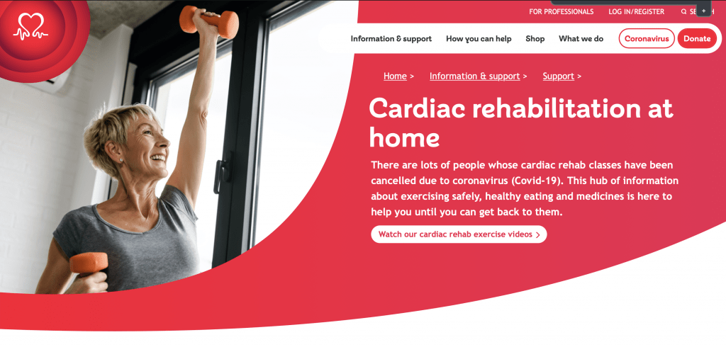 BHF Cardiac Rehabilitation at home